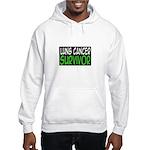'Lung Cancer Survivor' Hooded Sweatshirt