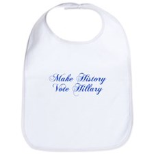 Make History Vote Hillary-Cho blue 300 Bib