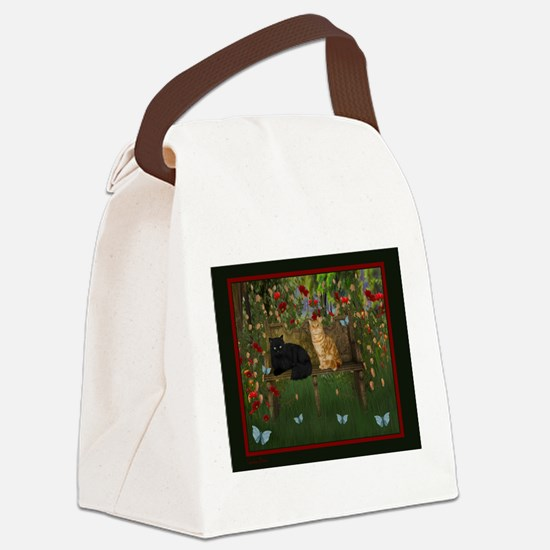 Unique Digital kitty Canvas Lunch Bag