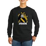 Carswell Family Crest Long Sleeve Dark T-Shirt