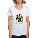 Carswell Family Crest Women's V-Neck T-Shirt