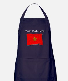 Morocco Flag (Distressed) Apron (dark)