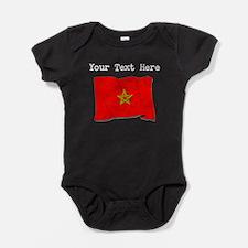 Morocco Flag (Distressed) Baby Bodysuit