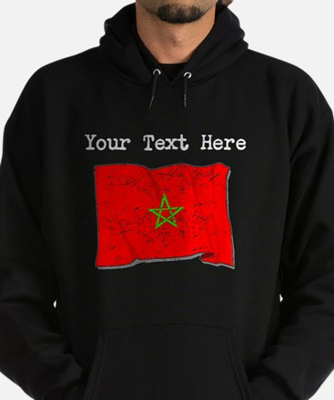 Morocco Flag (Distressed) Hoody