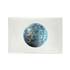 Global Business Technology Rectangle Magnet