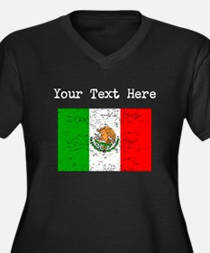 Mexico Flag (Distressed) Plus Size T-Shirt