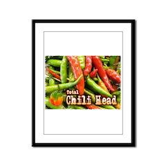 Total Chili Head Framed Panel Print