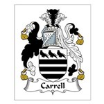Carrell Family Crest Small Poster
