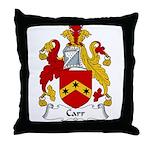 Carr Family Crest  Throw Pillow