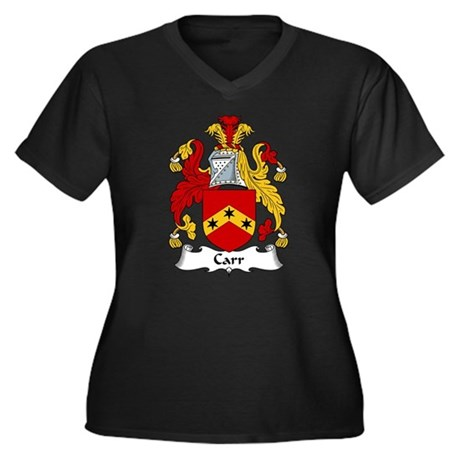 Carr Family Crest Women's Plus Size V-Neck Dark T