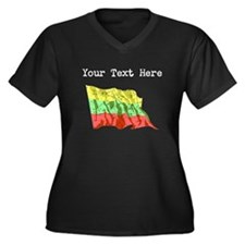 Lithuania Flag (Distressed) Plus Size T-Shirt