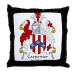 Carpenter Family Crest Throw Pillow