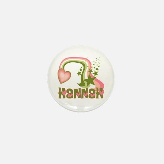 Rainbows & Stars Hannah Personalized Mini Button
