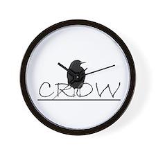 crow design Wall Clock
