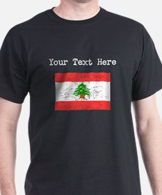 Lebanon Flag (Distressed) T-Shirt