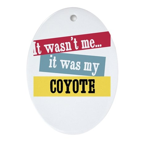 Coyote Oval Ornament
