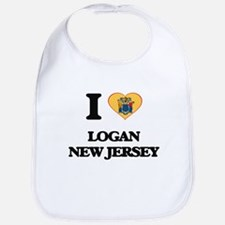 I love Logan New Jersey Bib