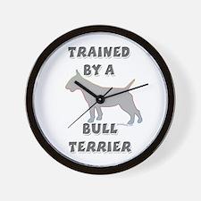 Bull Terrier Slvr Wall Clock