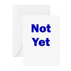 Not Yet Greeting Cards (Pk of 20)