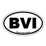 British Virgin Islands BVI Oval Sticker