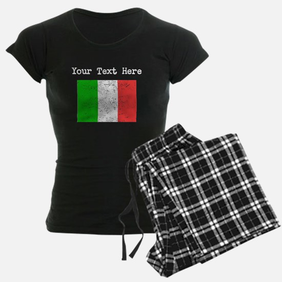 Italy Flag (Distressed) Pajamas
