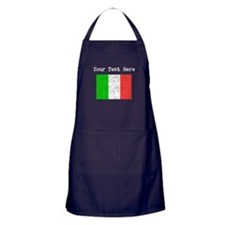 Italy Flag (Distressed) Apron (dark)