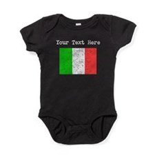 Italy Flag (Distressed) Baby Bodysuit