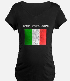 Italy Flag (Distressed) Maternity T-Shirt