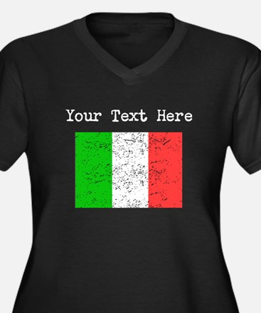 Italy Flag (Distressed) Plus Size T-Shirt