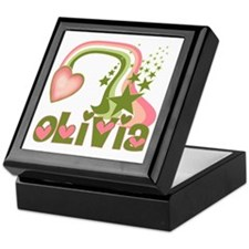 Rainbows & Stars Olivia Personalized Keepsake Box
