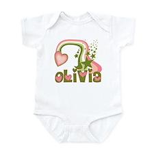 Rainbows & Stars Olivia Personalized Infant Bodysu