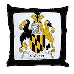 Calvert Family Crest Throw Pillow
