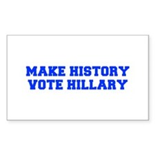 Make History Vote Hillary-Fre blue 600 Decal