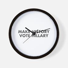 Make History Vote Hillary-Fut gray 400 Wall Clock