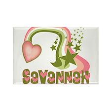 Rainbows & Stars Savannah Personalized Rectangle M