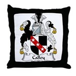 Calley Family Crest Throw Pillow