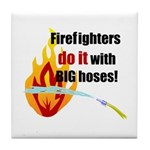 Fire Fighters Do it Tile Coaster