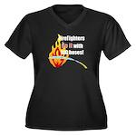 Fire Fighters Do it Women's Plus Size V-Neck Dark