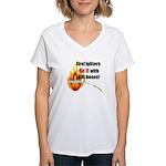 Fire Fighters Do it Women's V-Neck T-Shirt