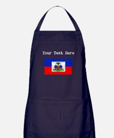 Haiti Flag (Distressed) Apron (dark)