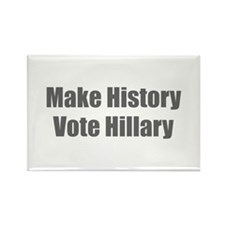 Make History Vote Hillary-Imp gray 400 Magnets