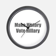Make History Vote Hillary-Imp gray 400 Wall Clock