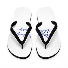 Make History Vote Hillary-Jan blue 400 Flip Flops