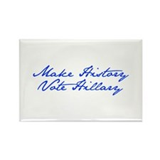 Make History Vote Hillary-Jan blue 400 Magnets