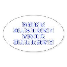 Make History Vote Hillary-Kon blue 460 Decal