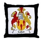 Cabot Family Crest Throw Pillow