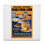 Foods from Corn Tile Coaster