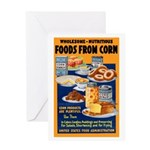 Foods from Corn Greeting Card