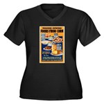 Foods from Corn (Front) Women's Plus Size V-Neck D