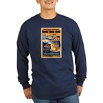 Foods from Corn (Front) Long Sleeve Dark T-Shirt